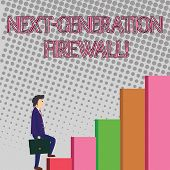 Text Sign Showing Next Generation Firewall. Conceptual Photo Combining Firewall With Other Network F poster