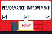 Handwriting Text Perforanalysisce Improvement. Concept Meaning Improve Productivity Enhance Quality  poster