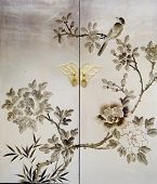 Elegant decorative painting on old  Furniture