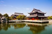 stock photo of bannister  - Chinese temple - JPG