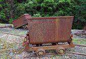old mining railway wagon