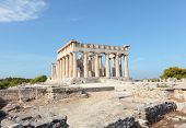 foto of argo  - A view of the Doric temple of Aphaia on Aegina island in the Saronic Gulf - JPG
