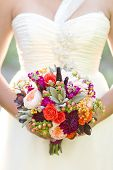 Contemporary bouquet with succulents and garden roses