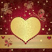 Gold And Red Valentine Frame