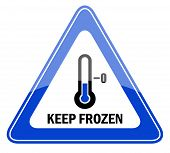Vector keep frozen sign