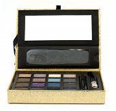 Gold Makeup Box