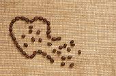 Símbolo de amor de café