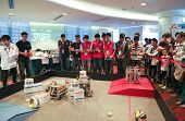 SUBANG JAYA - NOVEMBER 10: High school teams compete in an event to make their robots perform tasks