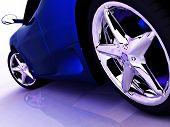 Постер, плакат: Синий спортивный автомобиль