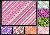 Set Of Retro Background With Stripes