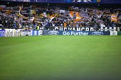 VALENCIA - NOVEMBER 20: Valencia Supporters during UEFA Champions League match between Valencia CF a