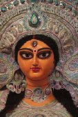 pic of durga  - A close up Image of Goddess Durga - JPG