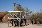stock photo of gallows  - Old method of western justice - JPG