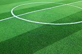 Campo de futebol de grama artificial
