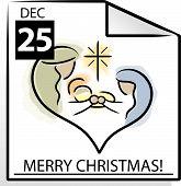 Vector Christmas Calendar Page
