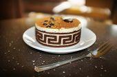 sweet tasty cake in cafe