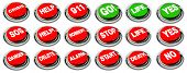 Crisis, Danger, Sos, Go, Stop, Start, Help, Delete, Life, Death, Robbery, Alarm, 911, Yes, No Button
