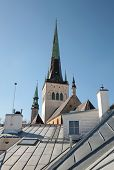 picture of olaf  - Houses with metal roofs and church St - JPG