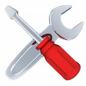 stock photo of rework  - Tools symbol repair  - JPG