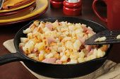Southern Style Hash Browns And Ham