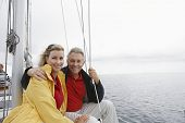 Couple on yacht portrait