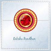 image of rakhi  - shiny rakhi vector background with space for your text - JPG