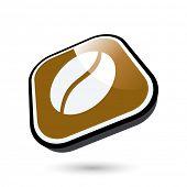 modern coffee bean sign