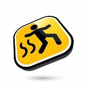 modern slip danger sign