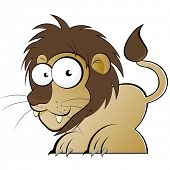 funny cartoon lion