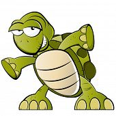 stock photo of carapace  - funny cartoon turtle - JPG