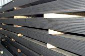 piles of steel sheet