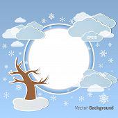 Winter round background