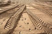 auto pistas en la arena