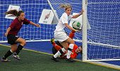 Canada Games Soccer Women Ball Keeper Action