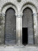 Old Church Doors In France