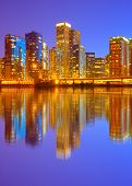 City of Chicago USA sunset colorful panorama