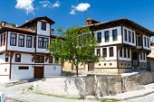 stock photo of ottoman  - Traditional Ottoman Houses in Kastamonu City - JPG