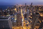 Chicago City from  Above at Night