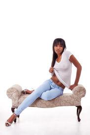 picture of lewd  - Sensual black ethnic biracial  - JPG