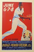 Vintage 1941 tennis poster for tournament played on June 6-8, 1941 in Forrest Hills, New York