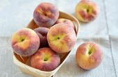 pic of peach  - Organic Ripe Peach fresh from the farmers market - JPG