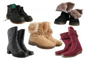 Set Of Different Wintry Boots