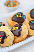 stock photo of jimmy  - Home made Cookies with Sprinkles on a plate - JPG