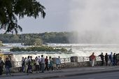 Niagara Falls With Tourists
