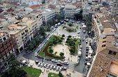 Aerial View Of Plaza De La Reina In Valencia