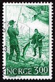 Postage Stamp Norway 1984 Salmon Fishing