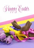 Happy Easter chocolate eggs