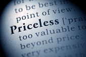 stock photo of priceless  - Fake Dictionary Dictionary definition of the word Priceless - JPG