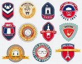 Badges set, labels and designs