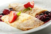Dessert - Pancakes with Berries